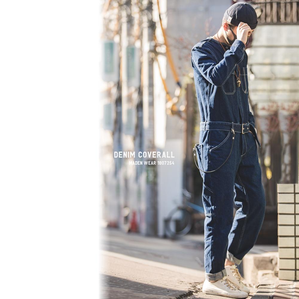 デニム オールインワン ツナギ【メンズデニムコーデアイテム!!】#T600