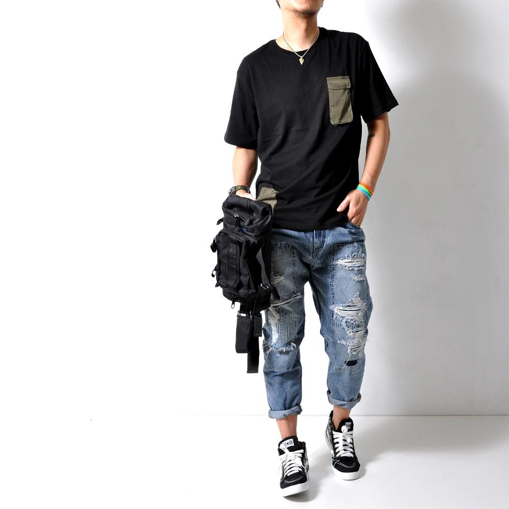 テーパード スラウチーダメージデニム ジーンズ 【メンズデニムコーデアイテム!!】#Jea77