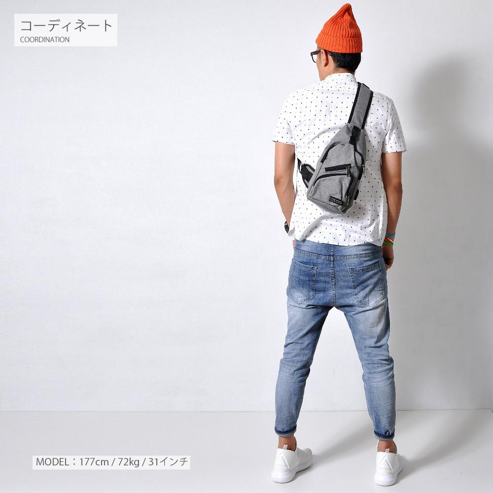 ダメージ加工 スリムフィットデニム 【メンズデニムコーデアイテム!!】#Jea71
