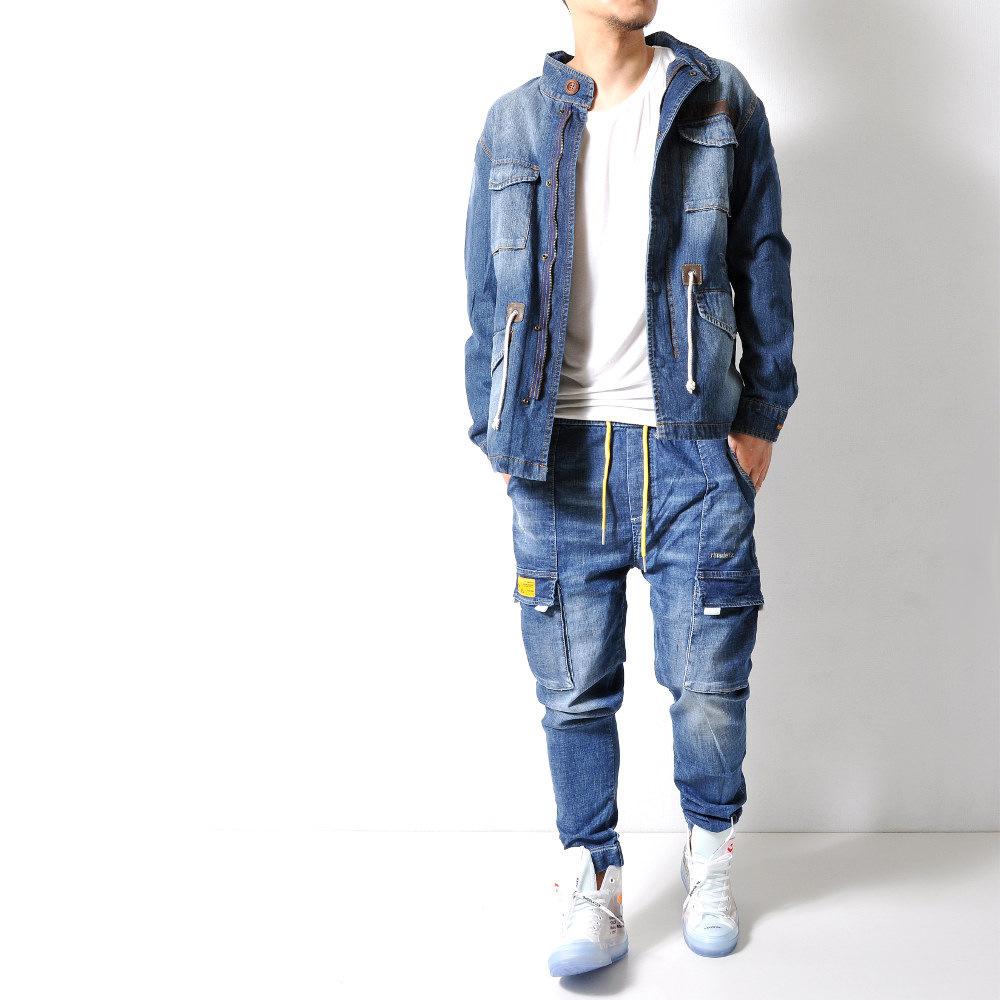 ストレッチ デニムカーゴジョガーパンツ 【メンズデニムコーデアイテム!!】 #Jea131