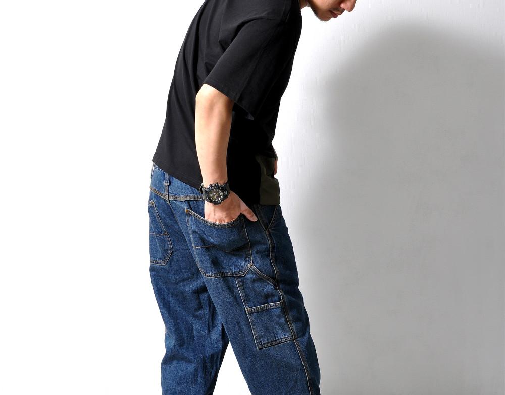 デニムワイドパンツ ジーンズ 【メンズデニムコーデアイテム!!】#Jea78