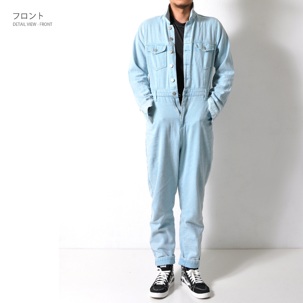 数量限定 つなぎ デニム オーバーオール メンズ【メンズデニムコーデアイテム!!】  #Jea143