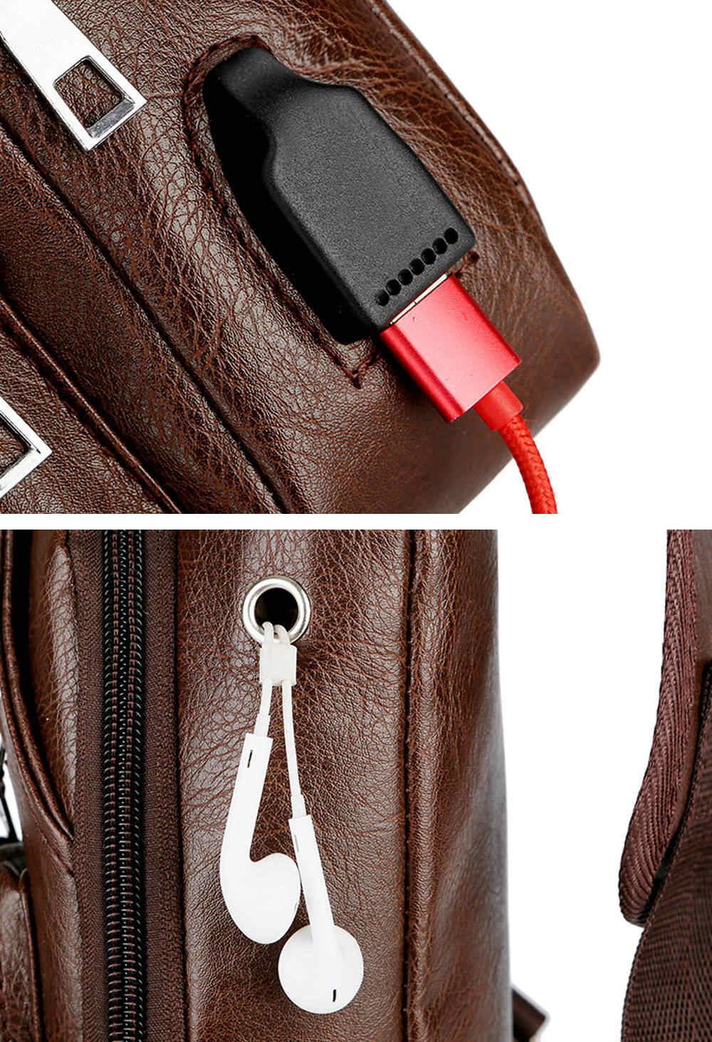 ボディバッグ USBポート付き #A909