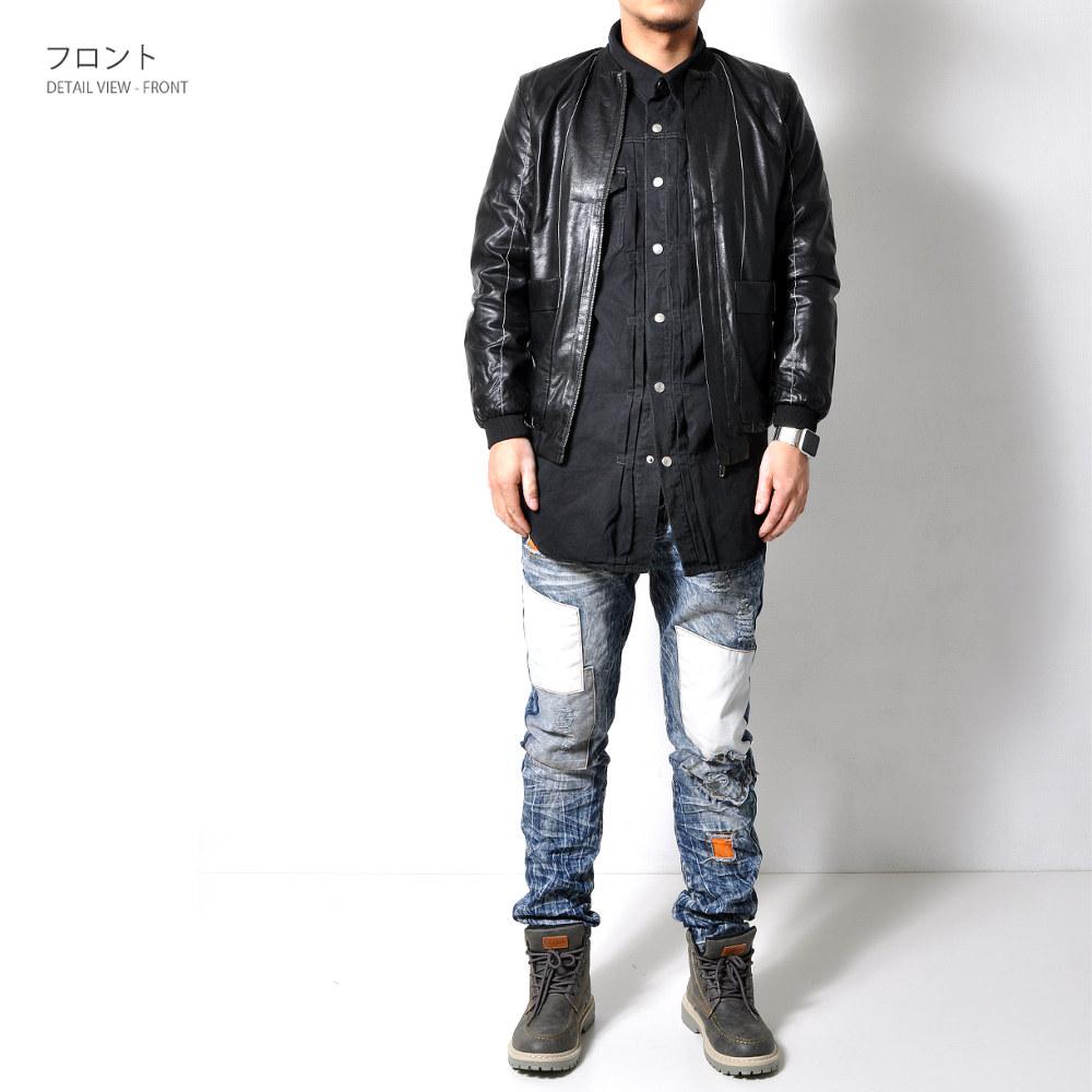 ダメージ パッチワーク デニム 【メンズデニムコーデアイテム!!】 #Jea134