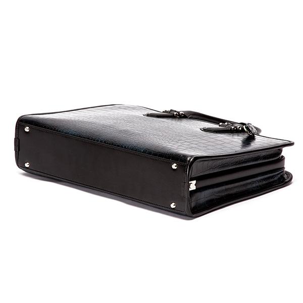 ダレスバッグ(ブリーフケース) メンズ クロコ型押し LUX RA22-102