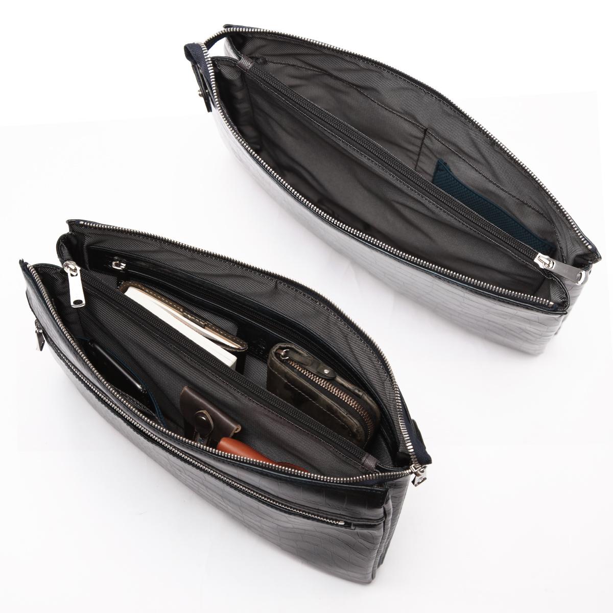 クラッチバック メンズ クロコ型押し合皮 LUX RA22-104
