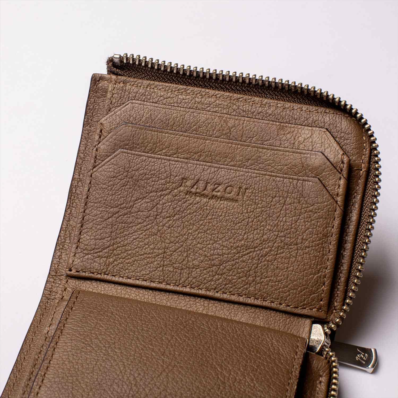 イタリアンシュリンクレザー ラウンドジップコンパクト財布 RA31-104