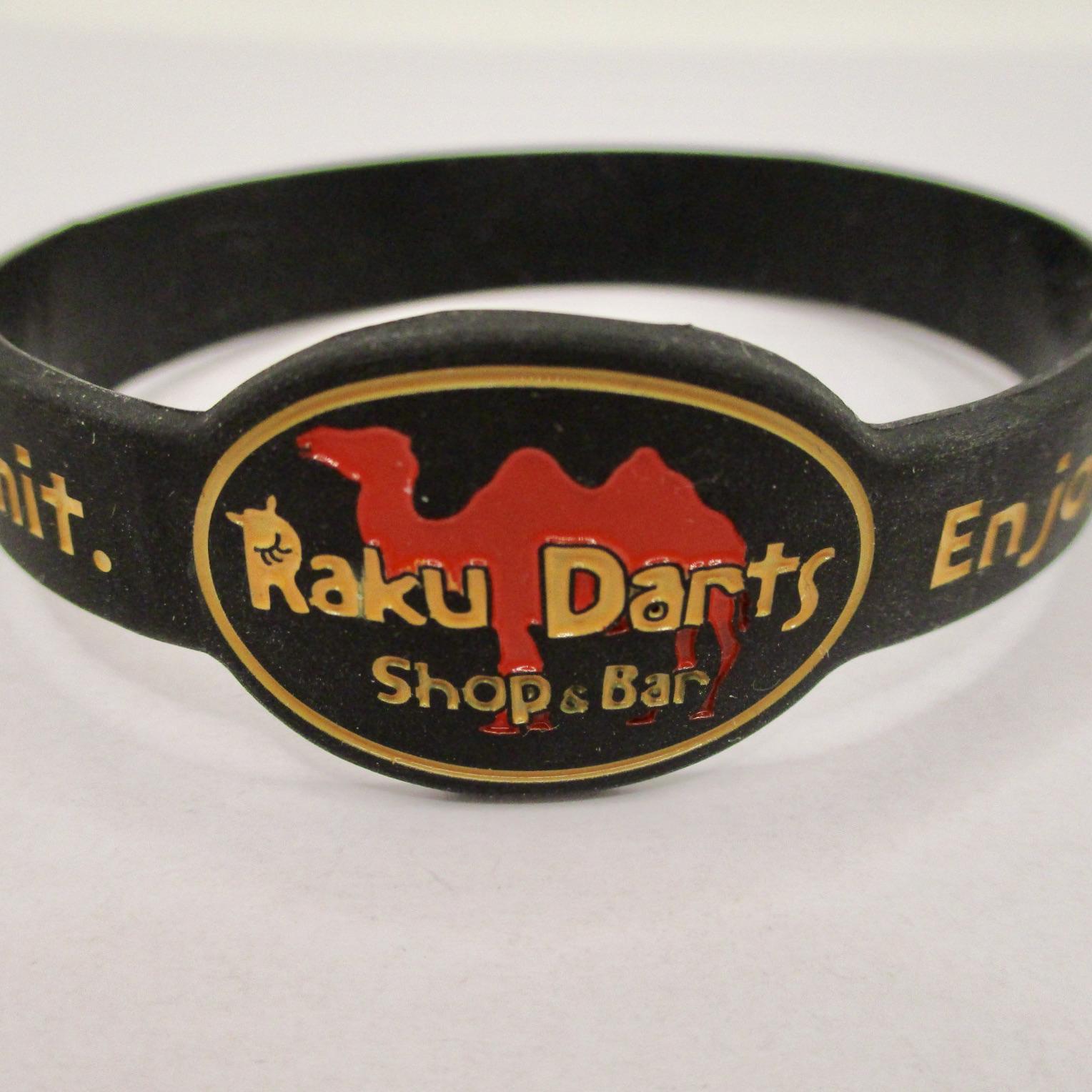 Raku Darts(ラクダーツ) [雑貨] オリジナル リストバンド 「Enjoy darts」