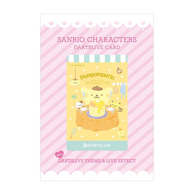 DARTS LIVE(ダーツライブ) [カード]×Sanrio characters(サンリオキャラクターズ) DARTSLIVE CARD with DARTSLIVEテーマ&LIVE EFFECT - ポムポムプリン