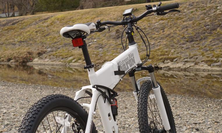 [折りたたみ電動自転車] バロンX 26インチ フレーム内にバッテリー搭載 電動アシストに見えない 前後Wサスペンション搭載 スポーツ系電動アシスト自転車