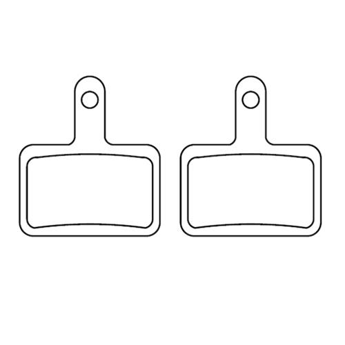 ブレーキパッド(グリッサード、バロンX26、2017年4月以降のシーガル20(前)、シーガル26用) *前後で交換する時は2セット必要です