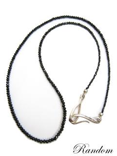 ブラックダイヤモンドネックレス(SV925 X ダイヤモンド)(ORDER MADE)