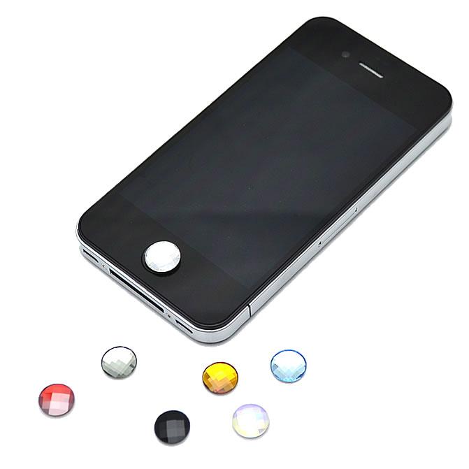 スワロフスキージュエルカット iPhone/iPad ホームボタンシール