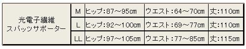 T&ROSE 光電子繊維スパッツサポーター(M・L・LLサイズ) jst-050-01 {13}[-0-]《送料無料》