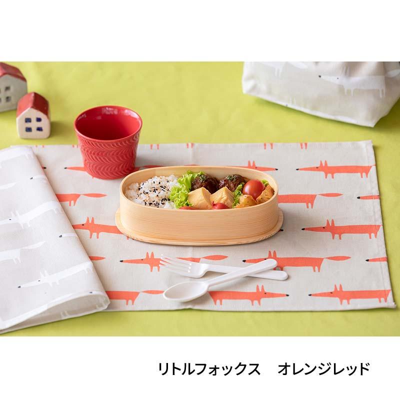 テーブルナプキン(42�x32�)  Little Fox オレンジレッド