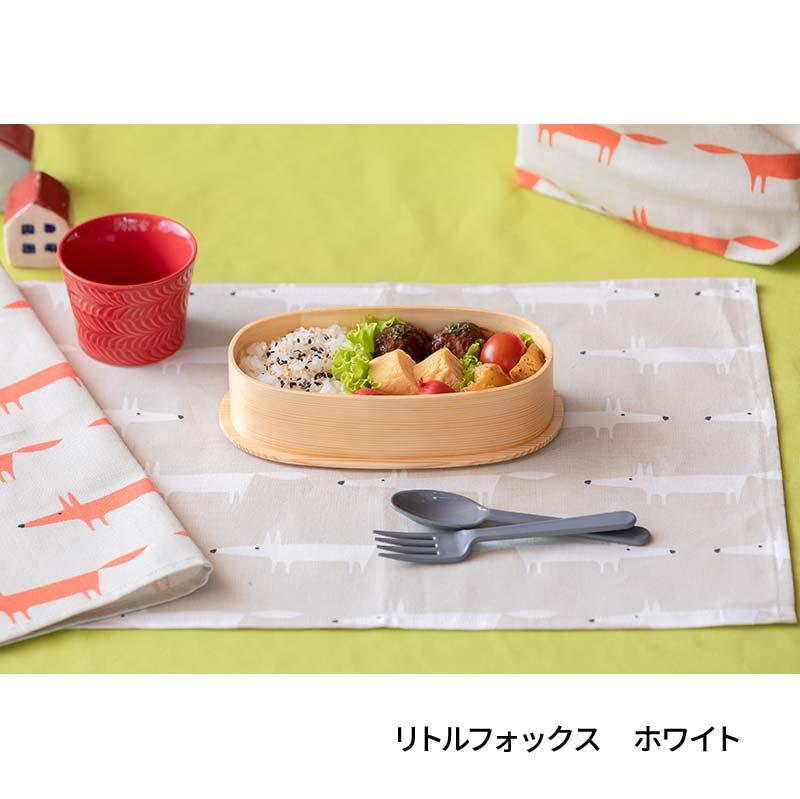 テーブルナプキン(42�x32�)  Little Fox ホワイト