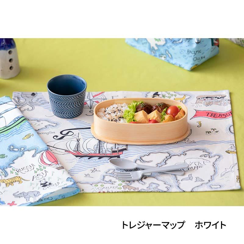 テーブルナプキン(42�x32�)  トレジャーマップ ホワイト