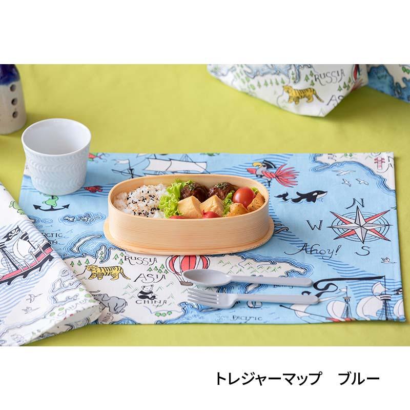 テーブルナプキン(42�x32�)  トレジャーマップ ブルー