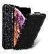 Melkco iPhone XS / X (5.8インチ) (2018 & 2017) プレミアム レザーケース 本革 ハンドメイド 磁石不使用 フリップタイプ (縦開き) [ ラセス rasesu Inc 日本正規代理店品 ]  【 ブラックLC 】