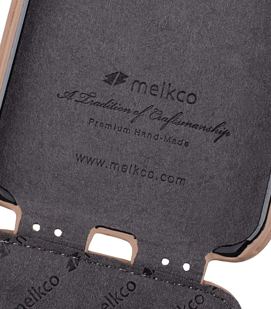 Melkco iPhone XR (6.1インチ) (2018) プレミアム ヌバック レザーケース 本革 ハンドメイド 磁石不使用 フリップタイプ (縦開き) [ ラセス rasesu Inc 日本正規代理店品 ]  【 クラシック・ビンテージ・ブラウン 】