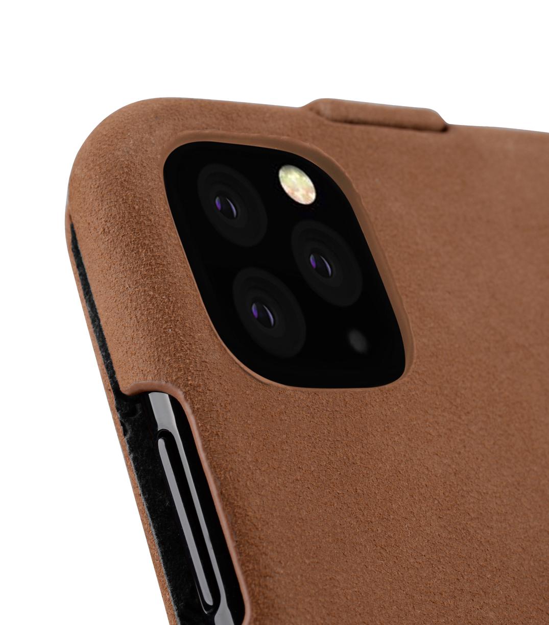 iPhone 11 (6.1インチ) (2019)  【 Melkco】 プレミアム ヌバック レザーケース 本革 ハンドメイド 磁石不使用 フリップタイプ (縦開き)  【 クラシック・ビンテージ・ブラウン 】