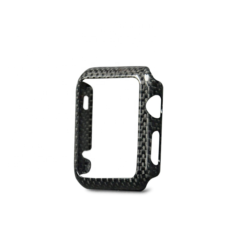 Apple Watch 44mm 【 100% リアルカーボン 】 ケース  超軽量 高強度  アップルウォッチ プロテクティブ ケース  【 ブラック 】