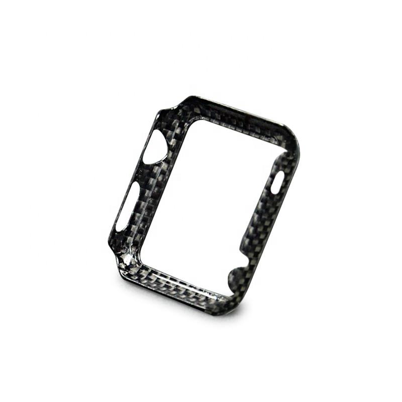 Apple Watch 40mm 【 100% リアルカーボン 】 ケース  超軽量 高強度  アップルウォッチ プロテクティブ ケース  【 ブラック 】