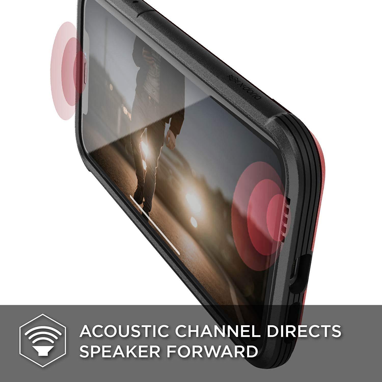 X-Doria iPhone XR (2018) ケース DEFENSE SHIELD シリーズ 米軍MIL規格取得 MIL-STD-810G 衝撃吸収 スリム ハイブリッド アルミニウム × TPU × ポリカーボネイト ケース 【 レッド 】