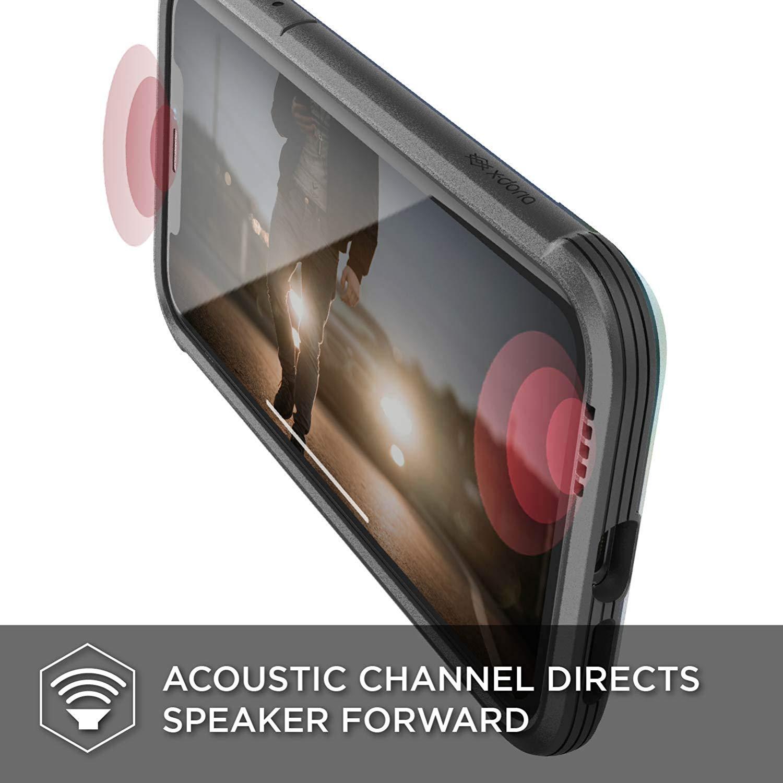 X-Doria iPhone XR (2018) ケース DEFENSE SHIELD シリーズ 米軍MIL規格取得 MIL-STD-810G 衝撃吸収 スリム ハイブリッド アルミニウム × TPU × ポリカーボネイト ケース 【 イリデセント 】