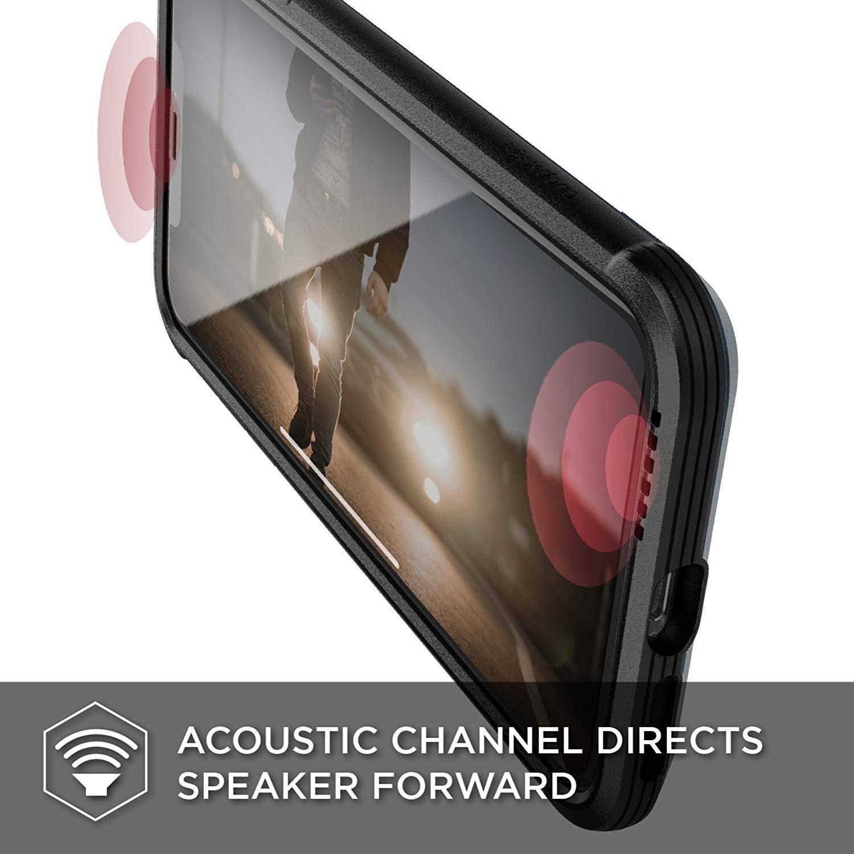 X-Doria iPhone XS / X (2018 & 2017) ケース DEFENSE LUX シリーズ 米軍MIL規格取得 MIL-STD-810G 衝撃吸収 スリム ハイブリッド アルミニウム × TPU × ポリカーボネイト ケース 【 ブラック・レザー 】