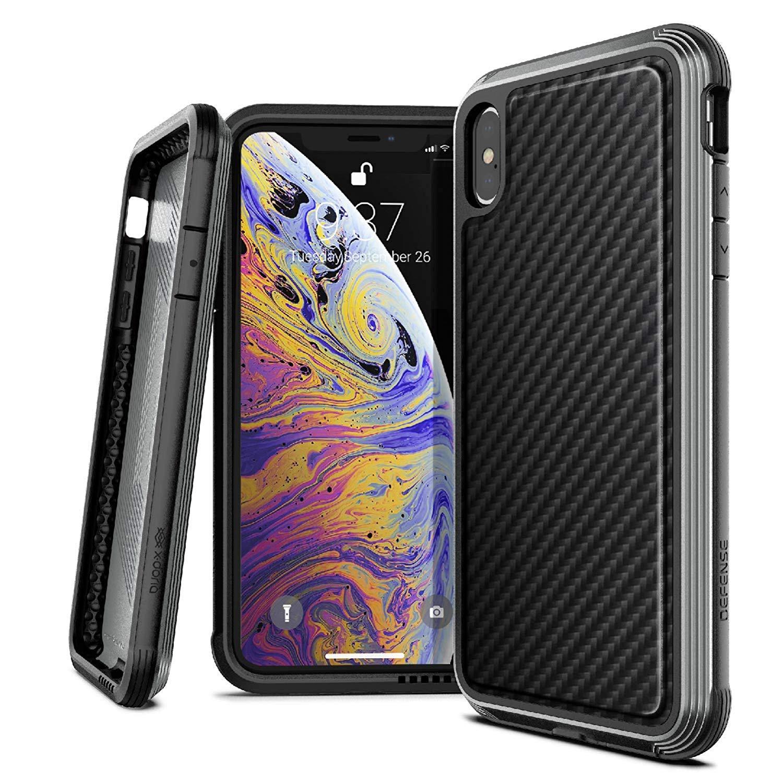 X-Doria iPhone XS / X (2018 & 2017) ケース DEFENSE LUX シリーズ 米軍MIL規格取得 MIL-STD-810G 衝撃吸収 スリム ハイブリッド アルミニウム × TPU × ポリカーボネイト ケース 【 ブラック・カーボン 】