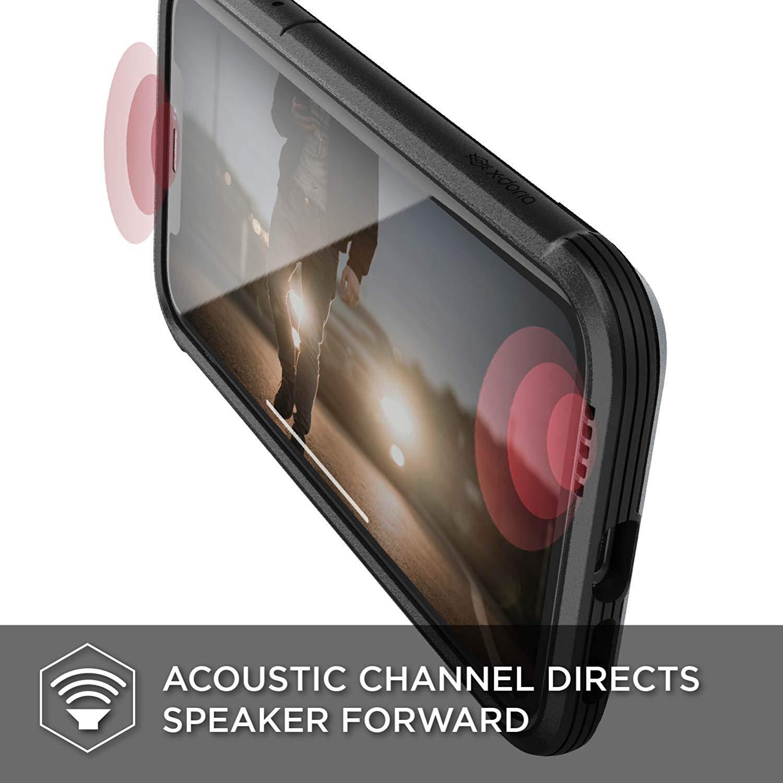 X-Doria iPhone XR (2018) ケース DEFENSE LUX シリーズ 米軍MIL規格取得 MIL-STD-810G 衝撃吸収 スリム ハイブリッド アルミニウム × TPU × ポリカーボネイト ケース 【 ブラック・カーボン 】