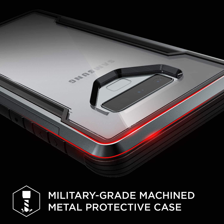 X-doria Galaxy Note 9 (2018) ケース DEFENSE SHIELD シリーズ 米軍MIL規格取得 MIL-STD-810G 衝撃吸収 スリム ハイブリッド アルミニウム × TPU × ポリカーボネイト ケース 【 ブラック 】