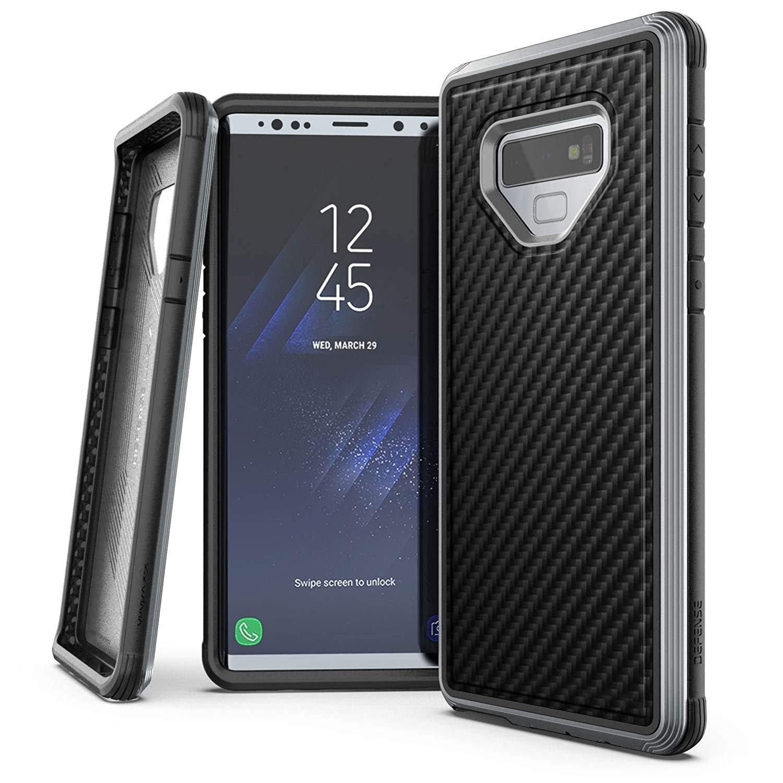 X-Doria Galaxy Note 9 (2018) ケース DEFENSE LUX シリーズ 米軍MIL規格取得 MIL-STD-810G 衝撃吸収 スリム ハイブリッド アルミニウム × TPU × ポリカーボネイト ケース 【 ブラック・カーボン 】