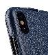 Melkco iPhone X  (2017) レザーケース 本革 プレミアム レザー ハンドメイド フリップタイプ (縦開き) 薄型 軽量【 ダークブルー LC 】
