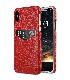 Melkco iPhone X  (2017) レザーケース プレミアム 本革レザー 薄型 軽量 ハンドメイド  カードホルダー Ver.2 薄型 軽量 【 レッド LC 】