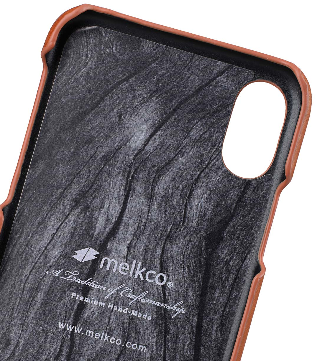 Melkco iPhone X  (2017) レザーケース プレミアム 本革レザー 薄型 軽量 ハンドメイド  カードホルダー Ver.2 薄型 軽量 【 タン WF 】