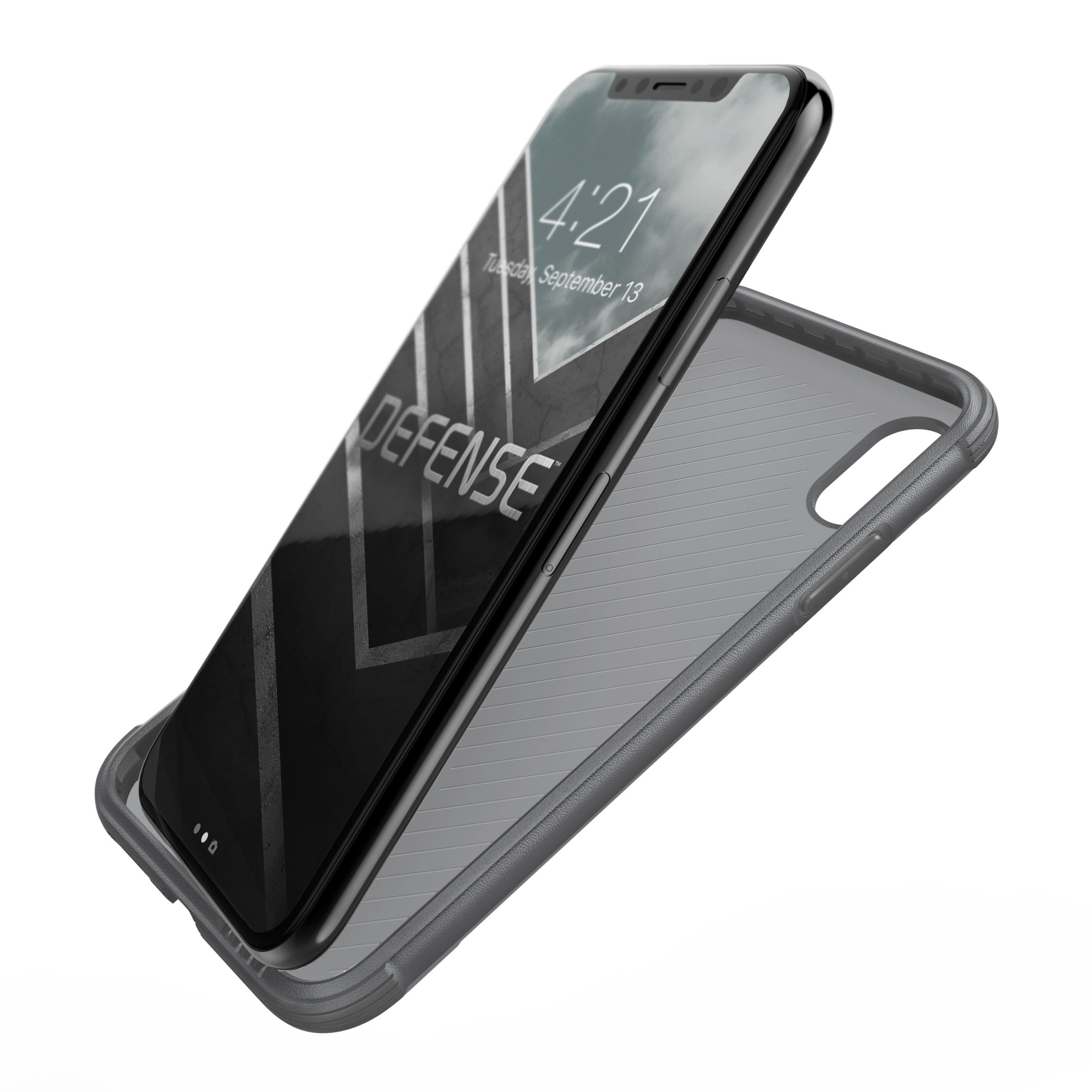 X-Doria iPhone X (2017) ケース DEFENSE LUX シリーズ 米軍MIL規格取得 MIL-STD-810G 衝撃吸収 スリム ハイブリッド アルミニウム × TPU × ポリカーボネイト ケース 【 ウッド 】