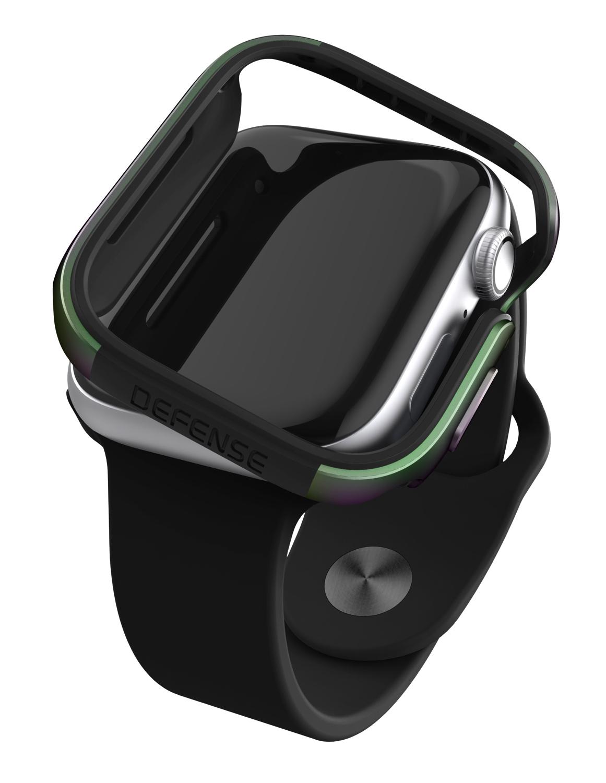 【 X-Doria 】 Apple Watch 44mm ケース Series 5 & Series 4 DEFENSE EDGE シリーズ プレミアム アルミニウム x TPU バンパー フレーム ハイブリッド (2層構造)  スリム ケース   【 イリデセント 】