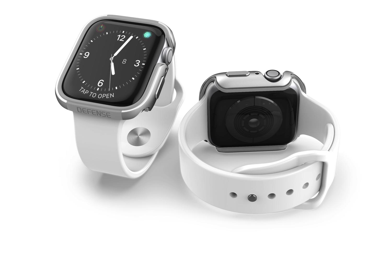 【 X-Doria 】 Apple Watch 44mm ケース Series 5 & Series 4 DEFENSE EDGE シリーズ プレミアム アルミニウム x TPU バンパー フレーム ハイブリッド (2層構造)  スリム ケース   【 シルバー 】