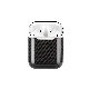 Apple AirPods 【 100% リアルカーボン 】 ライトニングチャージ ケース (2017年発売) A1602 対応 超軽量 高強度 簡単脱着 エアポッド プロテクティブ ケース [ ラセス rasesu Inc 日本正規代理店品 ]  【 ブラック 】