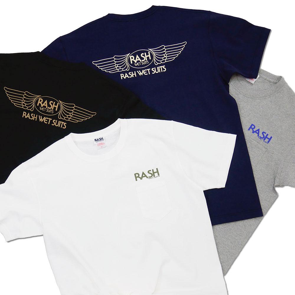 2021 RASH ヘビーウェイト 羽バックTee 7.1oz (ポケット付)