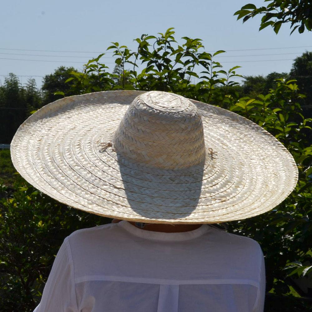 竹 帽子 日よけ ぼうし 通気性 シンプル つばが大きい おしゃれ ガーデニング レジャー 紐付き つば広 ハット ナチュラル 夏 農作業 夏の必須アイテム あご紐付き 存在感のある プレゼント 涼しく