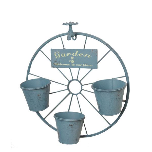 アイアンプランター ウィール 壁掛け インテリア 鉢植え 花 アンティーク風 アイアン雑貨 プランター ガーデニング 植木鉢 おしゃれ ウェルカムプレート アイアン 壁飾り 鉢 ポット