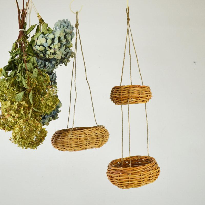 アラログ ハンギング 2連 バスケット L プランター 植物