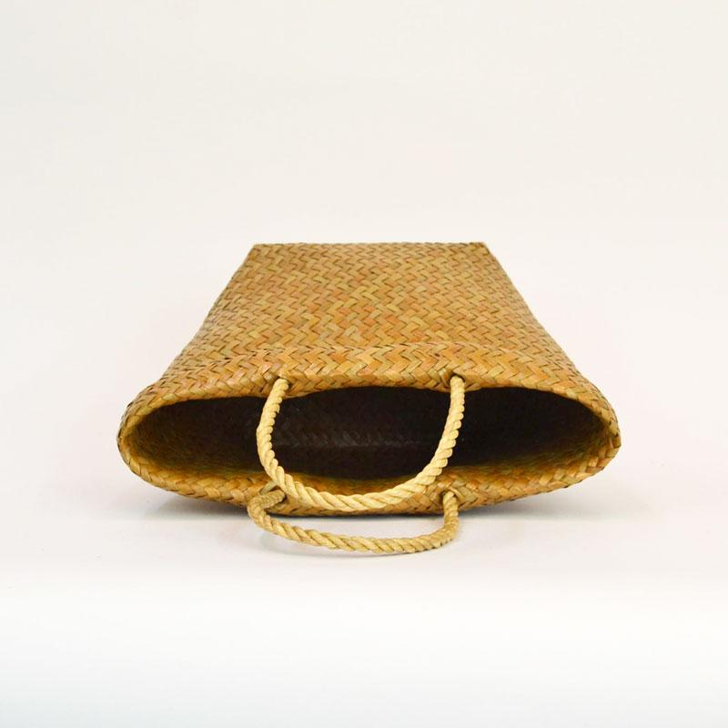 カチュー 取手付きかご S 楕円 スタンド型 かごバッグ