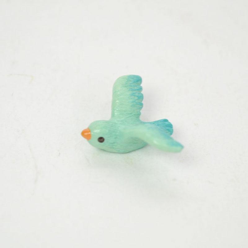 タイニーワールド 青い鳥 ミニチュア 置物 動物