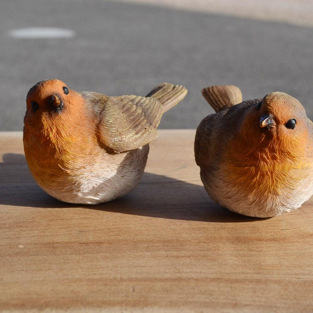 チアフルフレンズ  ことりのルチル&クォーツ アニマル ガーデニング雑貨  置物 ポリレジン オブジェ マスコット ディスプレイ お庭 ベランダ 玄関に リアル プレゼント 可愛い 自然の雰囲気にぴったり キュート つがい バード 2セット