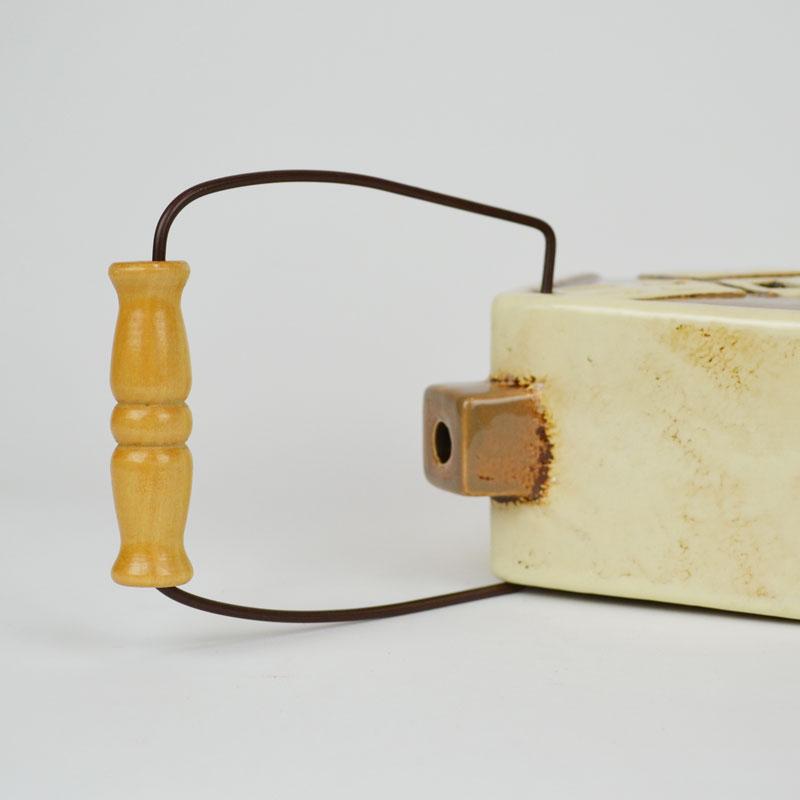 キャンドルハウス モスキートハウス 陶器 蚊遣り ブラウン