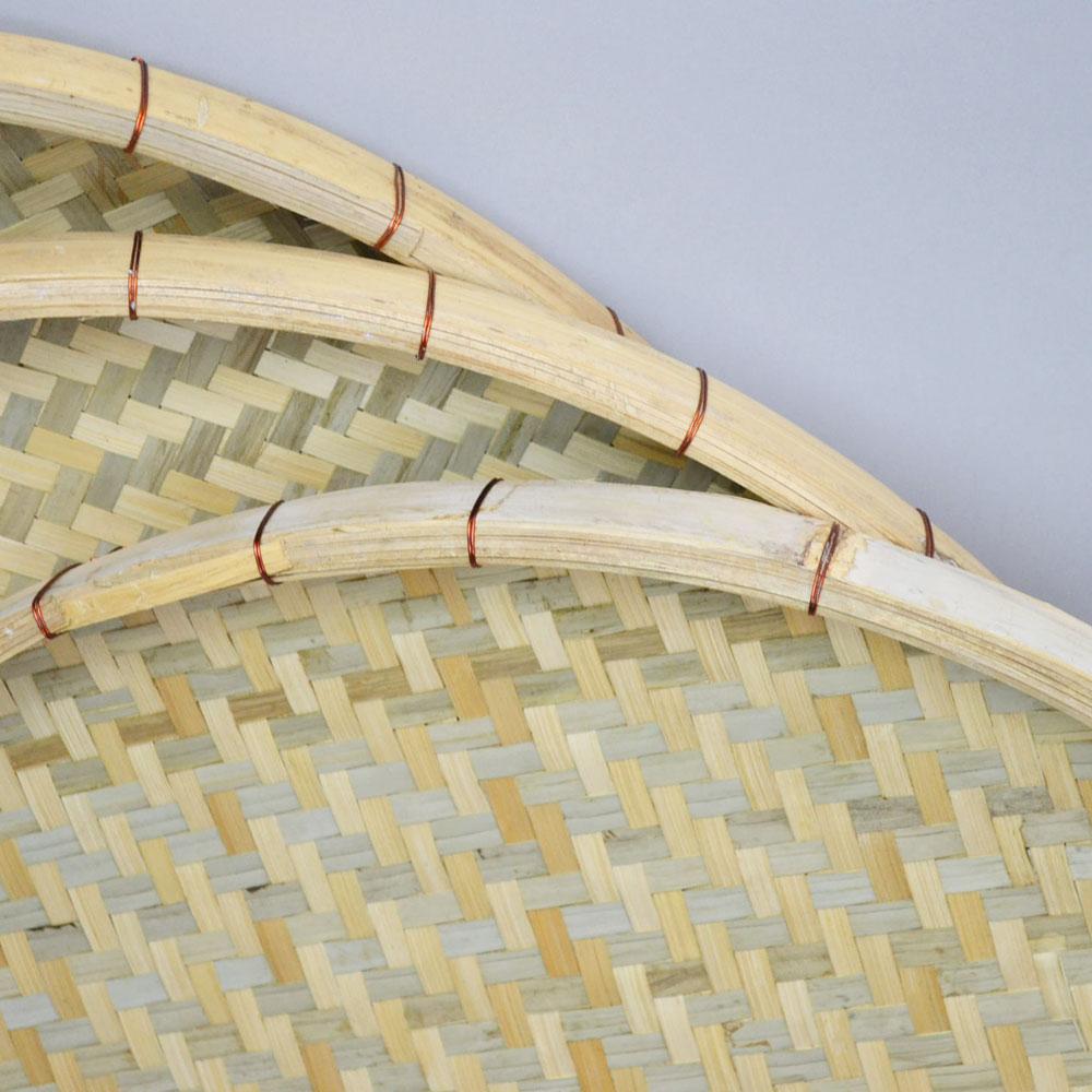 あじろ編み 竹 干しざる Mサイズ 皮竹材料 竹製 大きめサイズ 自家製なら安心 手作り 梅干し 野菜 海産物 天日干し 竹ざる 干物づくり 梅仕事に 魚の干物 通気性 丈夫 エコ 自然素材 ナチュラル 清潔 おやつ ベトナム製 内半皮